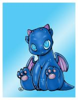 Baby Dragon Coloured. by Highlander0423
