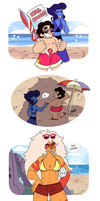 Beach Buddies by withery