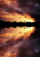 Sunset reflection by Schneeengel