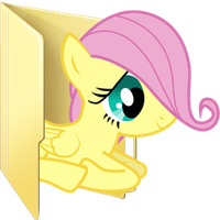 Custom filly Fluttershy folder icon by Blues27Xx