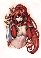 Colors over MAD!'s Red Monika by RyanKinnaird