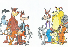 Tex Avery: Comparison from Original and 80s by FelixToonimeFanX360