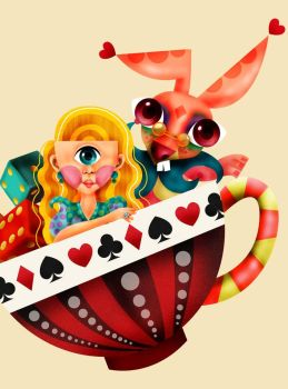 alice in the cup of tea by donaldfunq