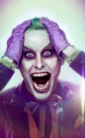 Jared Leto Joker retouch with suit by MrYorkie