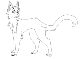 Kitty lineart .free use. by CoalPatchOfDuskClan