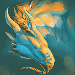 Dragon in Blue by bolthound