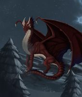 Red Dragon in the Snow by Ghostwalker2061