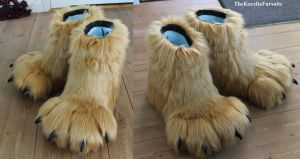 SukakuWolf Feetpaws by TheKareliaFursuits