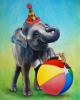 Elephant's Birthday by johannachambers