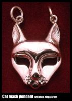 Cat mask pendant by Dans-Magic