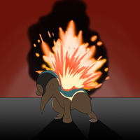 Pokecollab II: #155 Cyndaquil by TheICombaticon