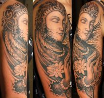 buddha tattoo atlantean by thothflashpan