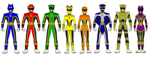 Power Rangers Forest Guardians by Hewylewis