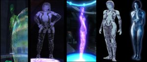 Halo Cortana's Evolution by Dustiniz117