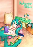 Miku At Home by isanctz