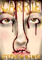 'Carrie' Book Cover by Thehighwaygirl