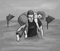 Wife Carrying by michaelpatrick