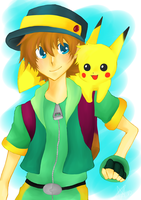 that kid with the pikachu by coolzaku