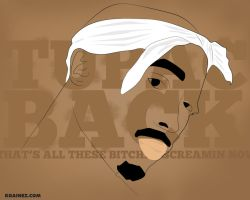 Tupac Back Vector by kgainez