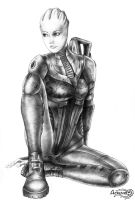 Liara T'soni bw by Agregor