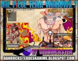Portgas D. Ace Tema Windows 7 by Danrockster