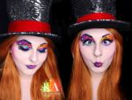 Mad Hatter Makeup w/ Tutorial by KatieAlves
