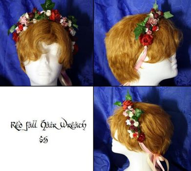Elvin Fall Hair Wreath by Airleasd