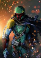 Boba Fett - Female / Final Rendition by BradyGoldsmith