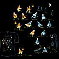Woot Shirt - Zombie Candycorn by fablefire