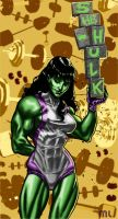 she-hulk pin up by 0mi