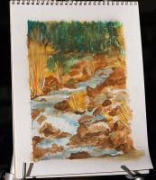 Stream-Watercolor by shell4art