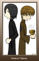 """cartoon"" Severus and Remus by corilefay"