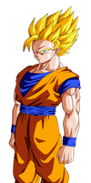 Goku SSJ2 by BardockSonic