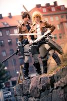 Ymir and Christa - Shingeki no Kyojin by TheCarebearFag