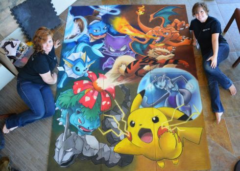 Gotta Catch 'Em All with Artists by ChalkTwins