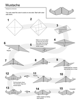 Origami Mustache Instructions by Cahoonas