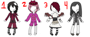 Vampire Girl Adopts .:CLOSED:. by Undead-Autumn