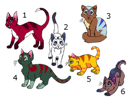 Cat adoptables Points or draw to adopt by LizzysAdopts