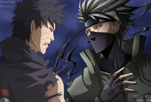 Obito Vs Kakashi: Collab by Rikimaru-Uchiha