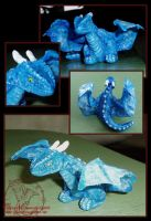 Small blue dragon, sculpture. by Isdrake