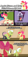 Apple Bloom and Juicy by chibi95