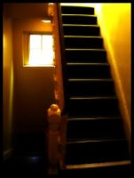 Yellow Stairwell by sillylittleidiot