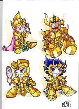 Golden Fighters by Desanimo