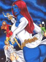 Mystique and friends by daikkenaurora