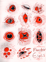 Monster Eyes  by MissThunderkin