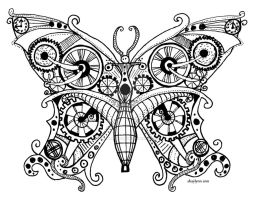 Steampunk Butterfly by ShaylynnAnn