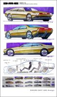Delorean Sedan Concept by daviddaylee