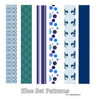 Blue Pattern Set by AlenaJay