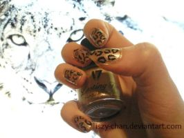 Leopard Print Nails by Iszy-chan