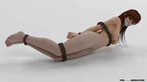 Kasumi - Nude pantyhose bound by TheLoneAbductor